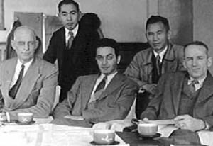 Homer Sarasohn: front row, center